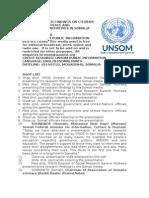 Citizens Perception of Peace and Stabilization Initiatives in Somalia