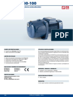 Plurijet 3-100 Pedrollo Catálogo General 60hz 2014
