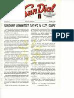 Sun  Dial newsletter