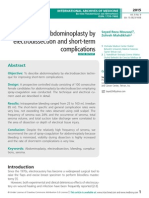 Results of abdominoplasty by electrodissection and short-term complications