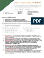 S NTESE Funcoes e Organizacao Do Estado