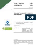 NTC_6018_2013 Etiquetas Ambientales Tipo 1 - Pinturas y Recubrimientos
