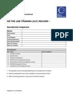 OJT Aerodrome Checklists Template Ver 1.0 Feb 2011