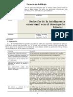 Arbitraje - Relación de la inteligencia emocional con el desempeño laboral (ciego)