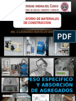 4.- Cuarta Clase Peso Especifico Absorcion