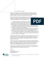 CCUSA Letter to Senate Judiciary Committee on Juvenile Justice