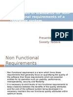 Elicitation of Standards for Non-Functional Requirements of A