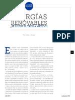 Energías Renovables y Paquete Verde (La Nación 2402)