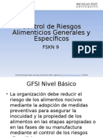Control of Food Hazards General and Specific Traducción