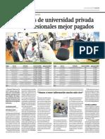 Economistas de Universidad Privada Son Los Profesionales Mejor Pagados
