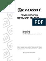 CROWN 3600 130366-1!11!00 Ma3600vz Service Manual Original