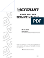 CROWN 3600 130366-1!11!00 Ma3600vz Service Manual Original