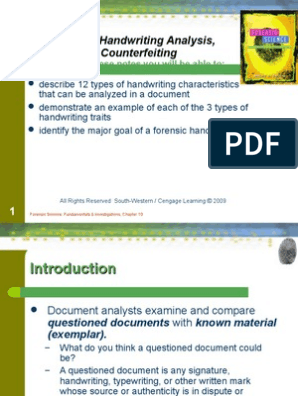 Handwriting Notes Forensic Science Graphology