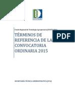 TdR Convocatoria 2015-0-0