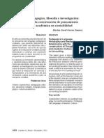 Lenguaje pedagógico, filosofía e investigación