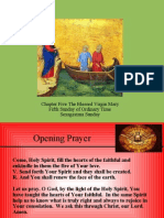 Chapter Five the Blessed Virgin Mary Fifth