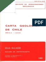 Extracto de la carta geologica de chile
