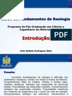 Fundamentos de Reologia-Introdução