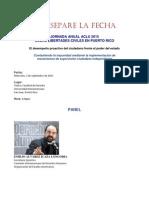 Separe La Fecha Jornada Aclu (Sept. 2015)
