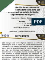 Diapositivas Proyecto Formulacion Banda Transp