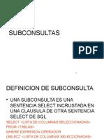 Sub Consultas Oracle 2008