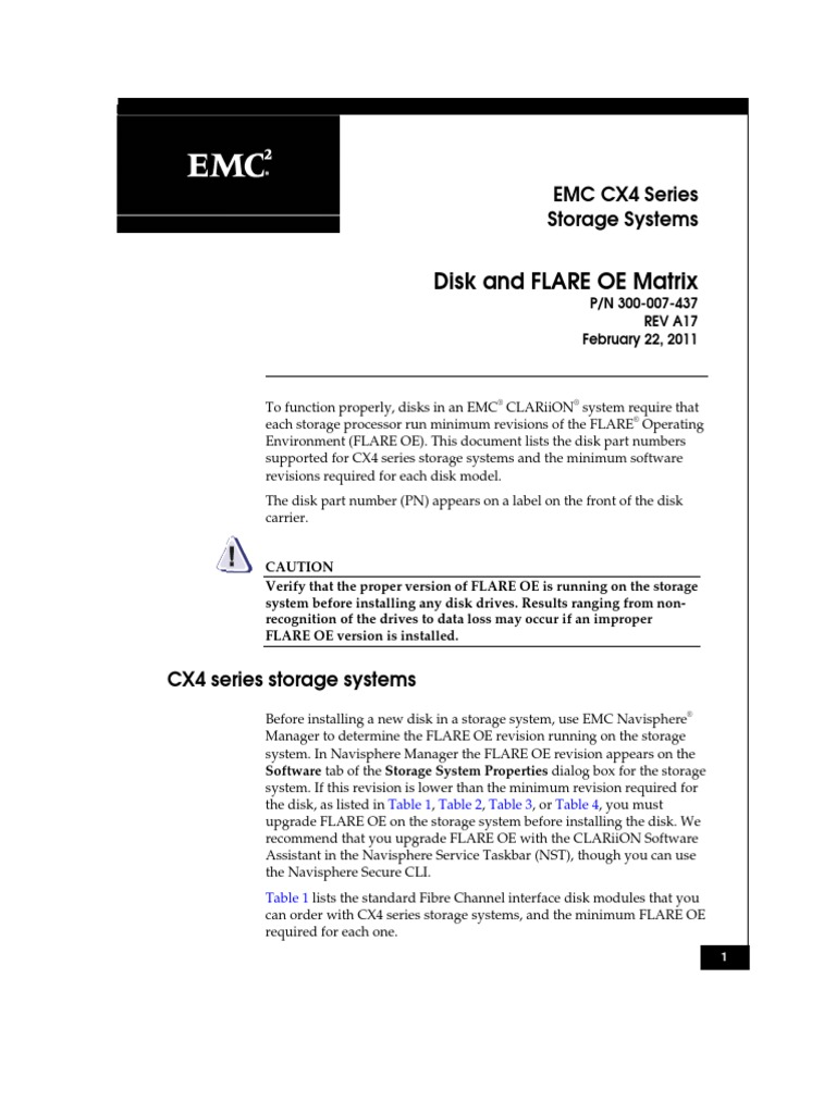 Emc cx4 disk and flare oe matrix computer hardware electronic emc cx4 disk and flare oe matrix computer hardware electronic engineering baditri Image collections