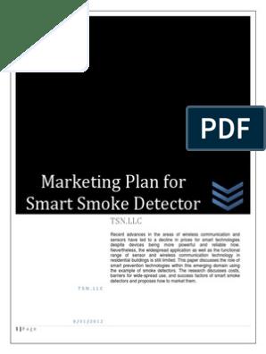 Marketing Plan for Smoke Detector pdf | Fire Sprinkler