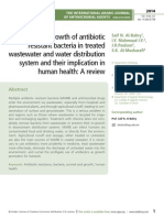 Survival and growth of antibiotic resistant bacteria in treated wastewater and water distribution system and their implication in human health