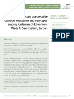 Streptococcus pneumoniae carriage, resistance and serotypes among Jordanian children from Wadi Al Seer District, Jordan
