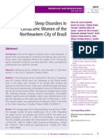 Sleep Disorders in Climacteric Women of the Northeastern City of Brazil