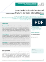 Simplifiation on the Reduction of Comminuted Mandibular Fractures for Stable Internal Fixation