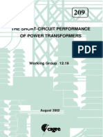 CIGRE 209 - The Short Circuit Performance of Power Transformers