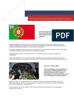 Chronology of the Portuguese Community in Guernsey