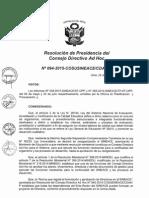 Resolución N°094-2015-COSUSINEACE-CDAH-P