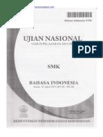 Naskah Soal UN Bahasa Indonesia SMK 2014 Paket 1