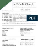Bulletin for July 26, 2015