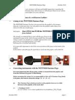 Wittner Finetune-Peg FAQ