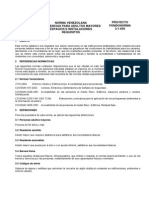 Residencias Para Adultos Mayores. Espacios e Intalaciones Requisistos - (Covenin 3-1-650)