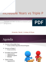 final debate ppt - triple p & incredible years