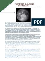 Influencia Luna en El Zodiaco
