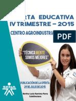 Oferta Educativa IV Trimestre