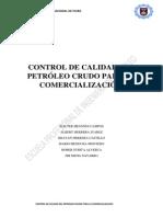 Control de Calidad Del Petróleo Crudo Para La Comercialización