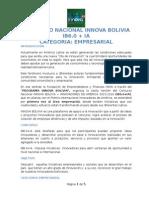 CONCURSO NACIONAL INNOVA BOLIVIA IB6.0 + IA - Bases Categoria Empresarial