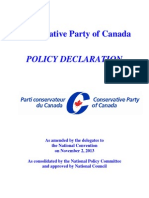 Official Conservative Policy Declaration Feb 2014