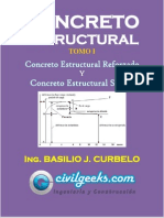 Libro de Concreto Estructural Reforzado y Simple TOMO I [Ing. Basilio J. Curbelo] CivilGeeks