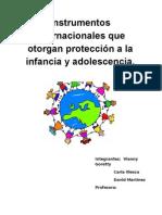 instrumentos que de protección internacional  tienen los niños y adolescentescrito Infancia.