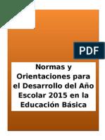 Directiva Del Año Escolar 2015