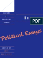 Introduction David Hume Political Essays