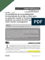 0. jcivil016. La prohibición de revocabilidad del reconocimiento de un hijo. ADN.pdf