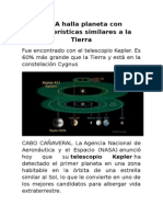 NASA Halla Planeta Con Características Similares a La Tierra